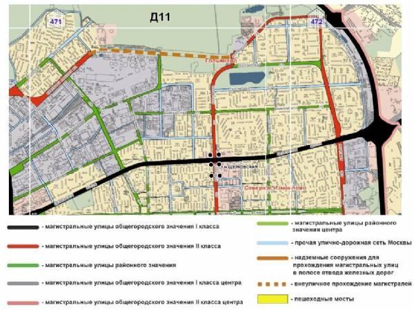 Курганская ул. как дублер Щелковского шоссе.